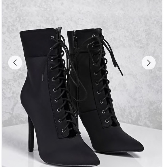 eccb4898920 Forever 21 Shoes - pointed toe ankle boots featuring a lace-up front